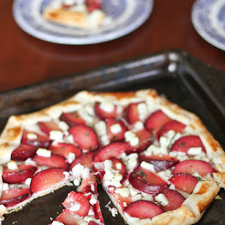 Pluot Galette with Chèvre and Thyme