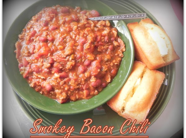 While you have the chili cooking on a medium heat, cut up your bacon...