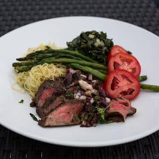 Garlic Marinated Grilled Flank Steak.