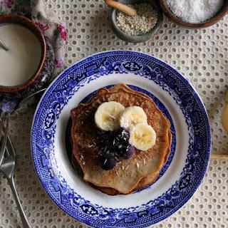 No Sugar Buckwheat Pancakes W/ Vanilla & Banana