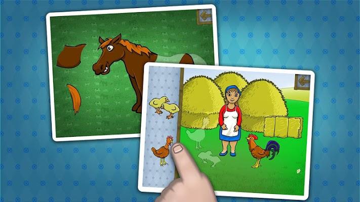 Kids farm animals puzzle - screenshot