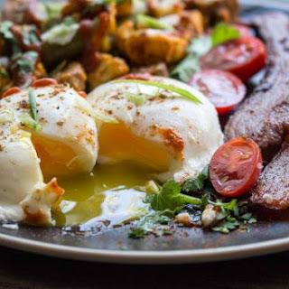 Pan Poached Eggs & Roasted Vegetable Masala (Paleo Breakfast) Recipe