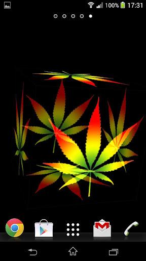 3D Marijuana Rasta Wallpaper