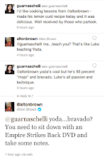 Photo: Hands down, the most unexpectedly geeky convo on Twitter.