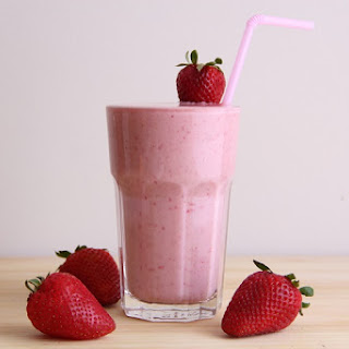 Strawberry Mint Smoothie.