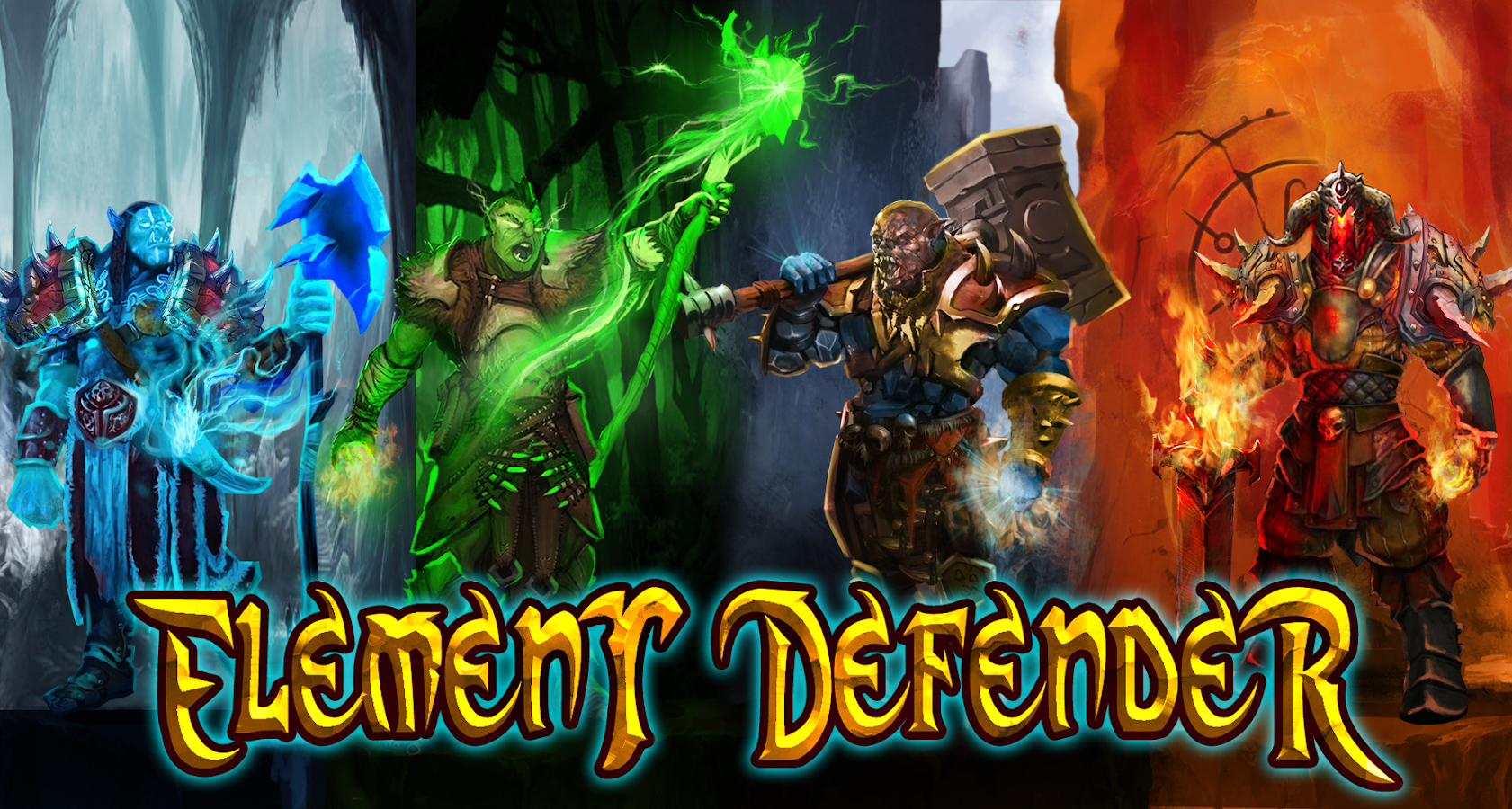 Element defender : Heroes Tap- screenshot