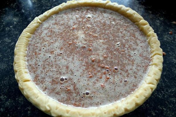 Pour into prepared pie crust.