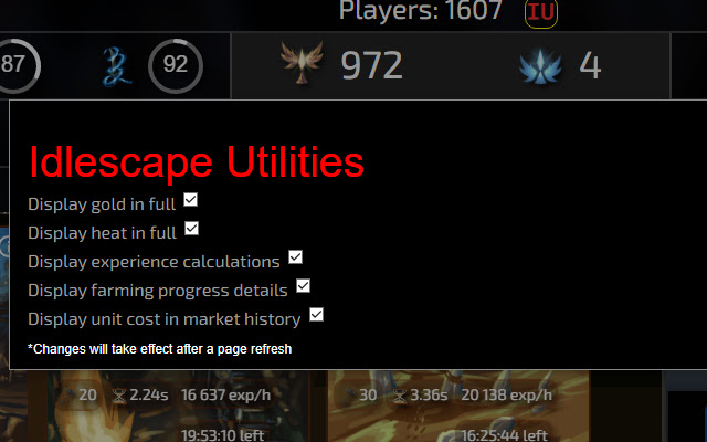 Idlescape utilities