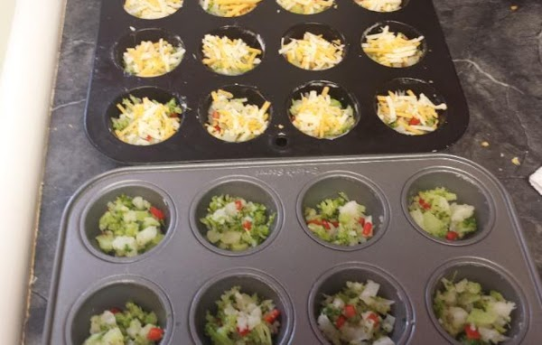 Preheat oven to 400°F. Grease well 2 mini-muffin pans (24 wells). Place a rounded...