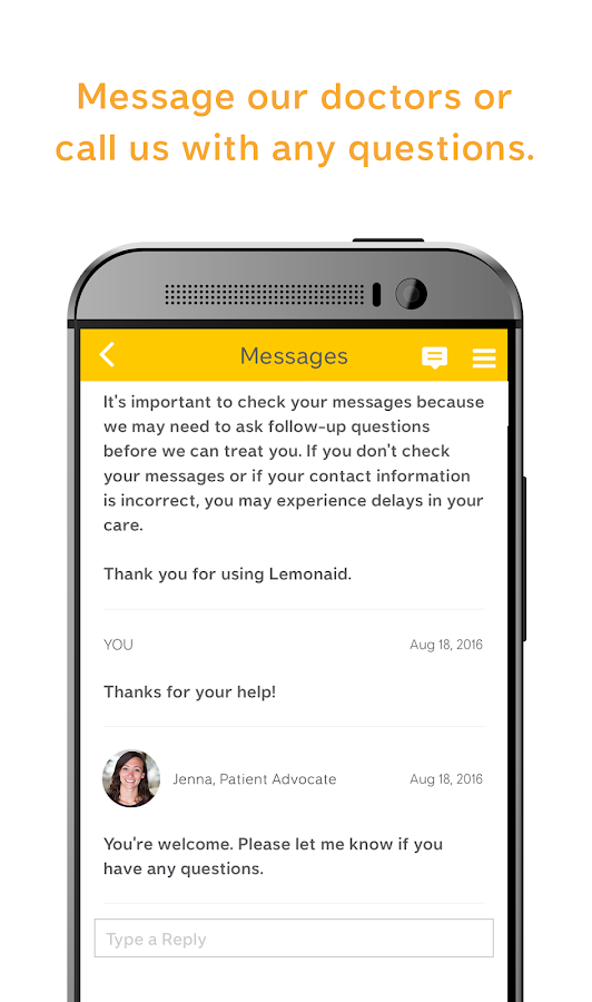 Lemonaid – Doctor Visit $15- screenshot