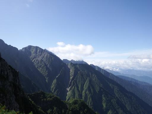 奥穂高岳方面