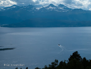 Photo: Car ferry on it's way across the Moldefjord, operating the busy Molde - Vestnes service