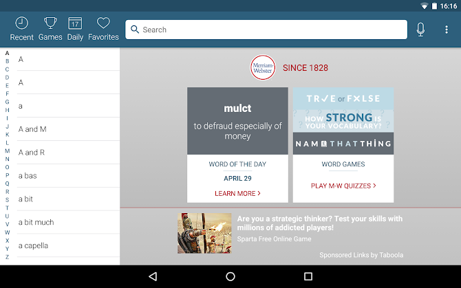 Dictionary - Merriam-Webster Android 9