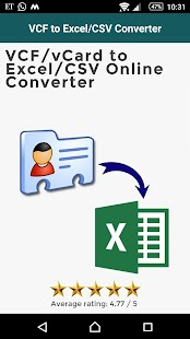 VCF to Excel/CSV Converter- screenshot thumbnail