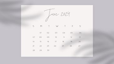 Shadow Monthly - Monthly Calendar template
