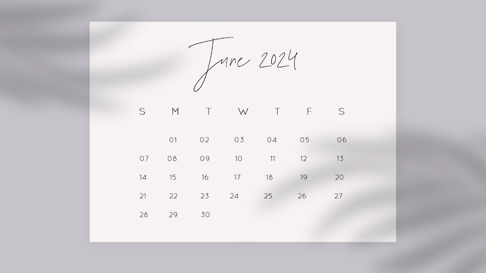Shadow Monthly - Calendar Template