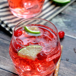Cranberry Lime Vodka Tonic.