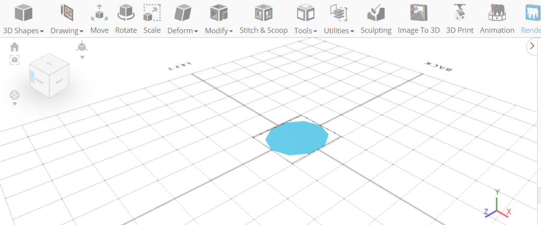 3D designing a cookie form