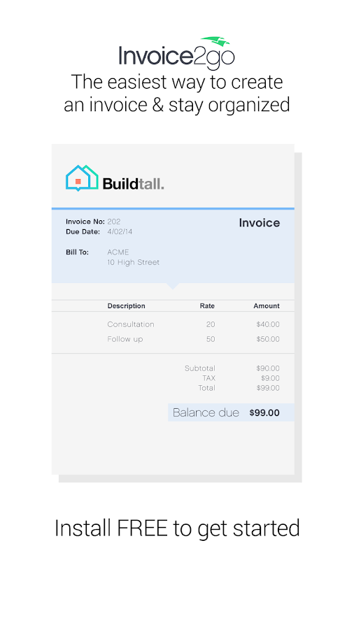 Invoice2go-Invoice on the Job- screenshot