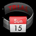 Calendar in Status bar Trial icon