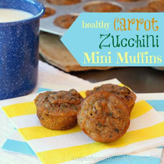 Healthy Carrot Zucchini Mini Muffins.