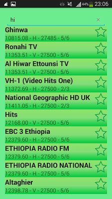 NileSat & EutelSat Frequencies - screenshot