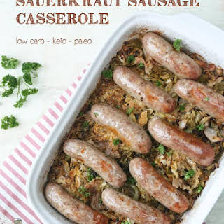 Low-Carb Sauerkraut Sausage Casserole.