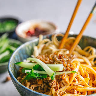 Chinese Minced Pork Noodles.