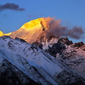 Fire by Soumen  Basu Mallick - Landscapes Mountains & Hills ( peak, sunset, himalayas )