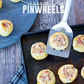 Sausage Dip Pinwheels