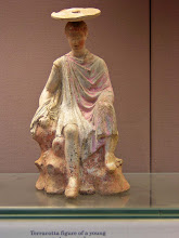 Photo: Terracotta statue with typical hat