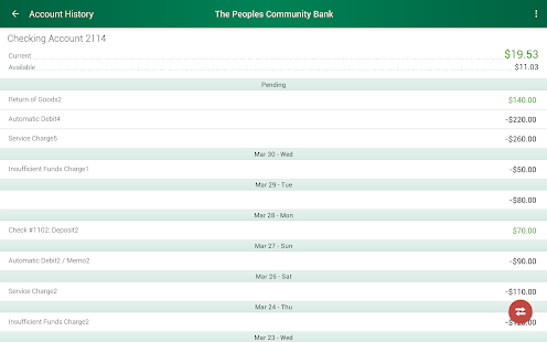 The Peoples Community Bank- screenshot thumbnail