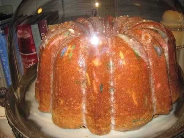 Pound Cake With Rainbow Sprinkles