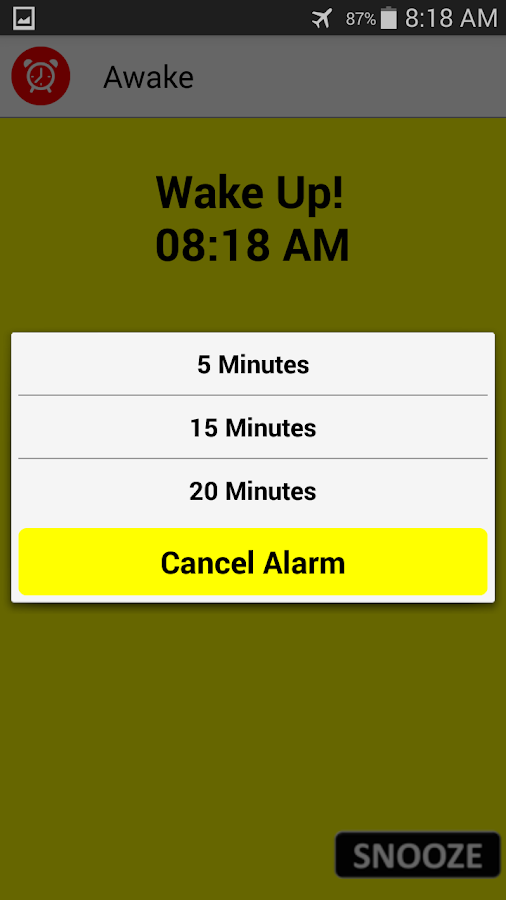 A.I Awake 2.0 Alarm Clock- screenshot