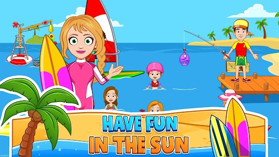 My Town : Beach Picnic MOD (Paid Content) 3