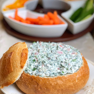 Easy Cold Spinach Dip With Cream Cheese.