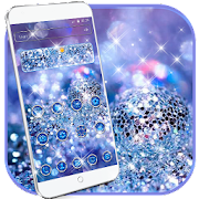 Glitter Blue Dream Theme - glitter wallpaper