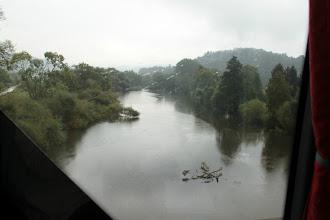 Photo: Floden Nahe med Disibodenberg i baggrunden