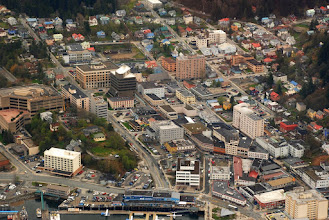 Photo: Aerial view of downtown Juneau