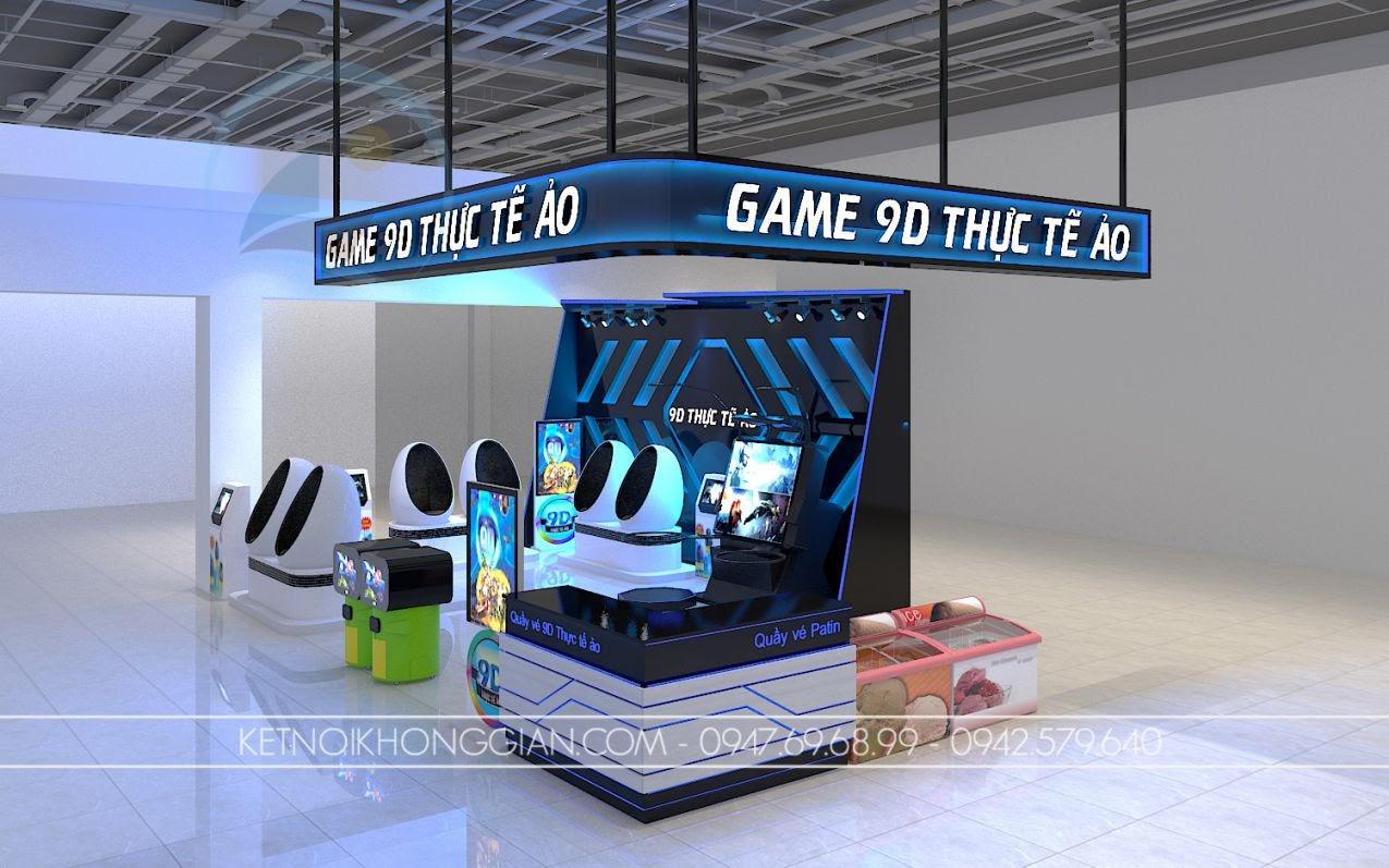 thiết kế gian hàng trò chơi tại trung tâm thương mại