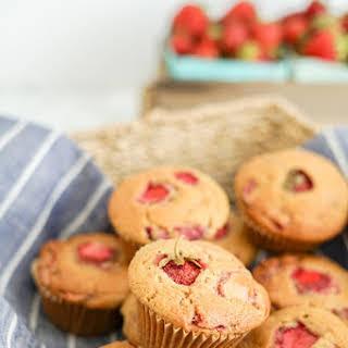 Strawberry Maple Muffins | Dairy-Free | Refined Sugar-Free | GF + Vegan Options.