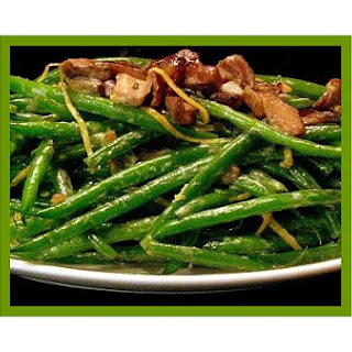 Tender Green Beans With Mushroom & Lemon Peel