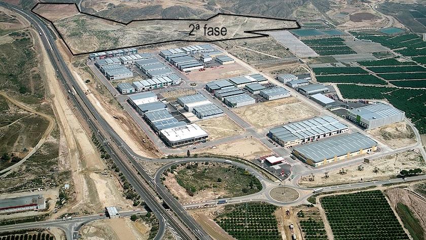 Vista aérea del Polígono Industrial El Real, entre los términos municipales de Antas y Vera.