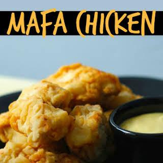 Mafa Chicken with Honey Mustard Sauce.
