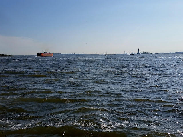Statue of Liberty across Hudson Bay