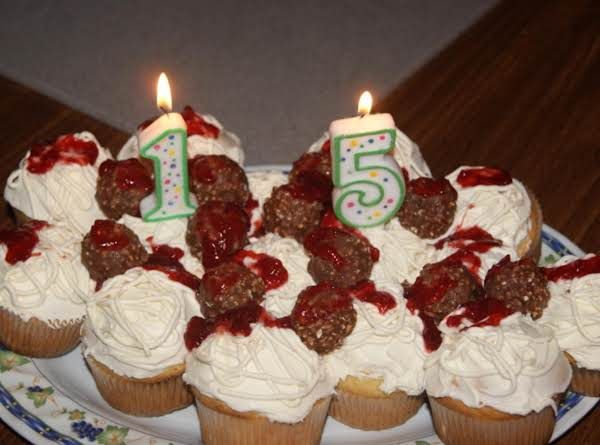 Spaghetti & Meatball Cupcakes Recipe