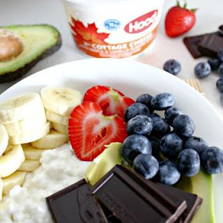 Cottage Cheese Power Bowl with Chocolate, Avocado and Banana.