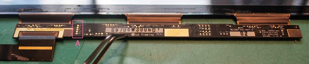 Photo: A - EDID eeprom access pins - standard I2C stuff