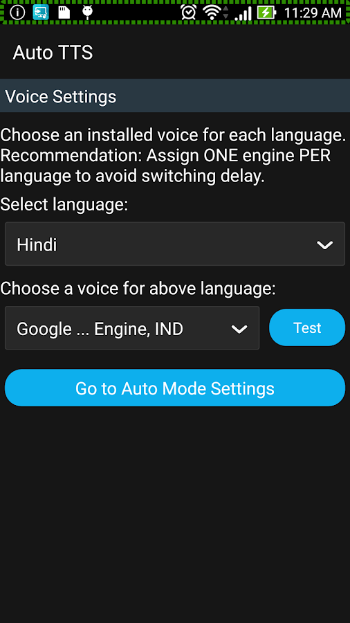 Auto TTS- screenshot