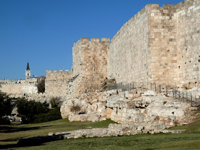 Photo: The wall that currently stands around the old city of Jerusalem was built by the Ottoman Turks.